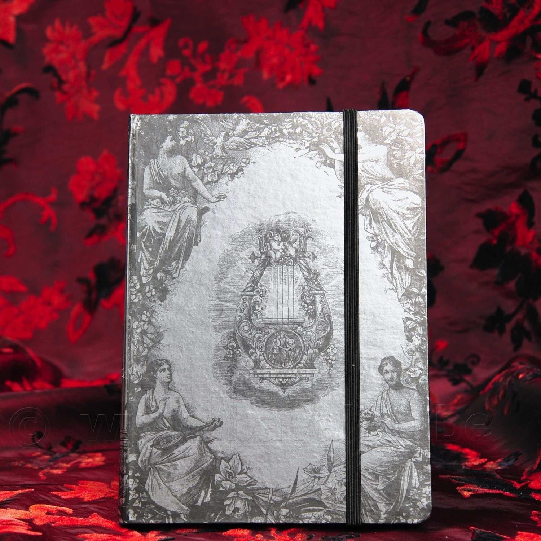 Notitieboekje, 'antiek zilver' - licht beschadigd