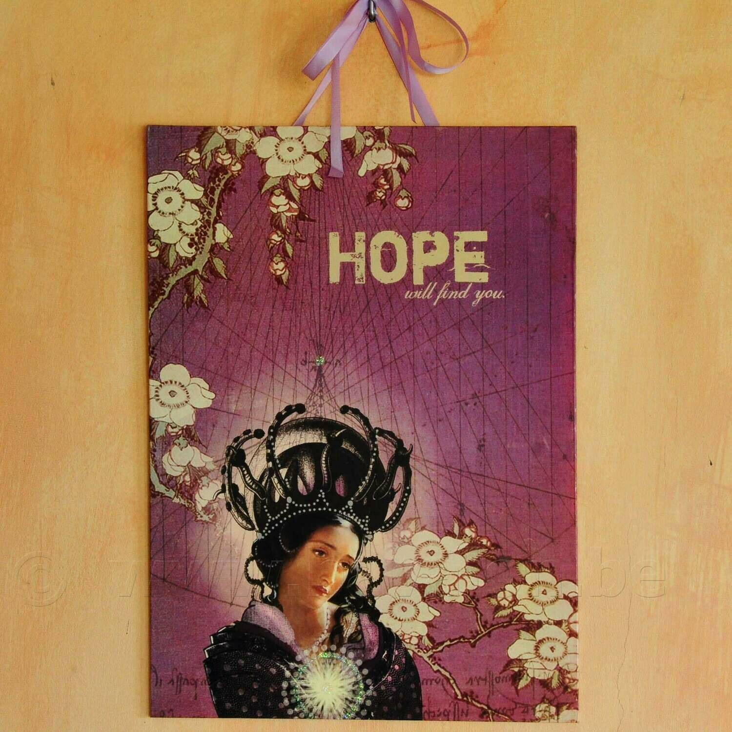 Grote illustratie 'Hope will find you'