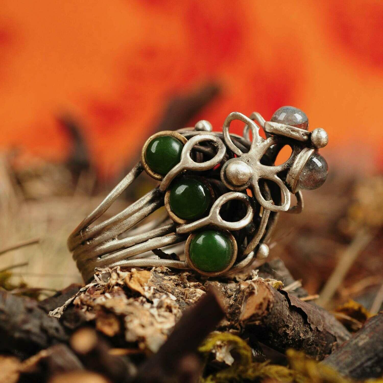 Ring in massief zilver - exclusief ontwerp - Lize Mommaerts - Maat 60