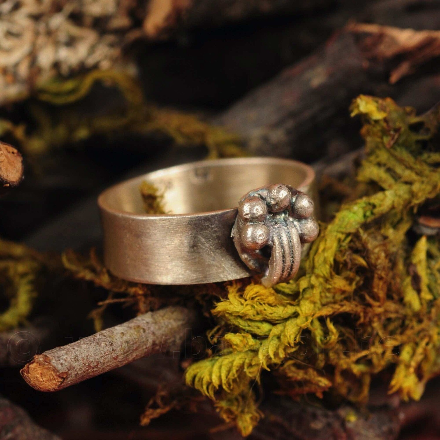 Ring in massief zilver - UNICA - Lize Mommaerts - Maat 56,5