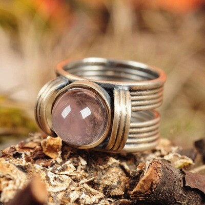 Ring in massief zilver - UNICA -Lize Mommaerts - Maat 55,5