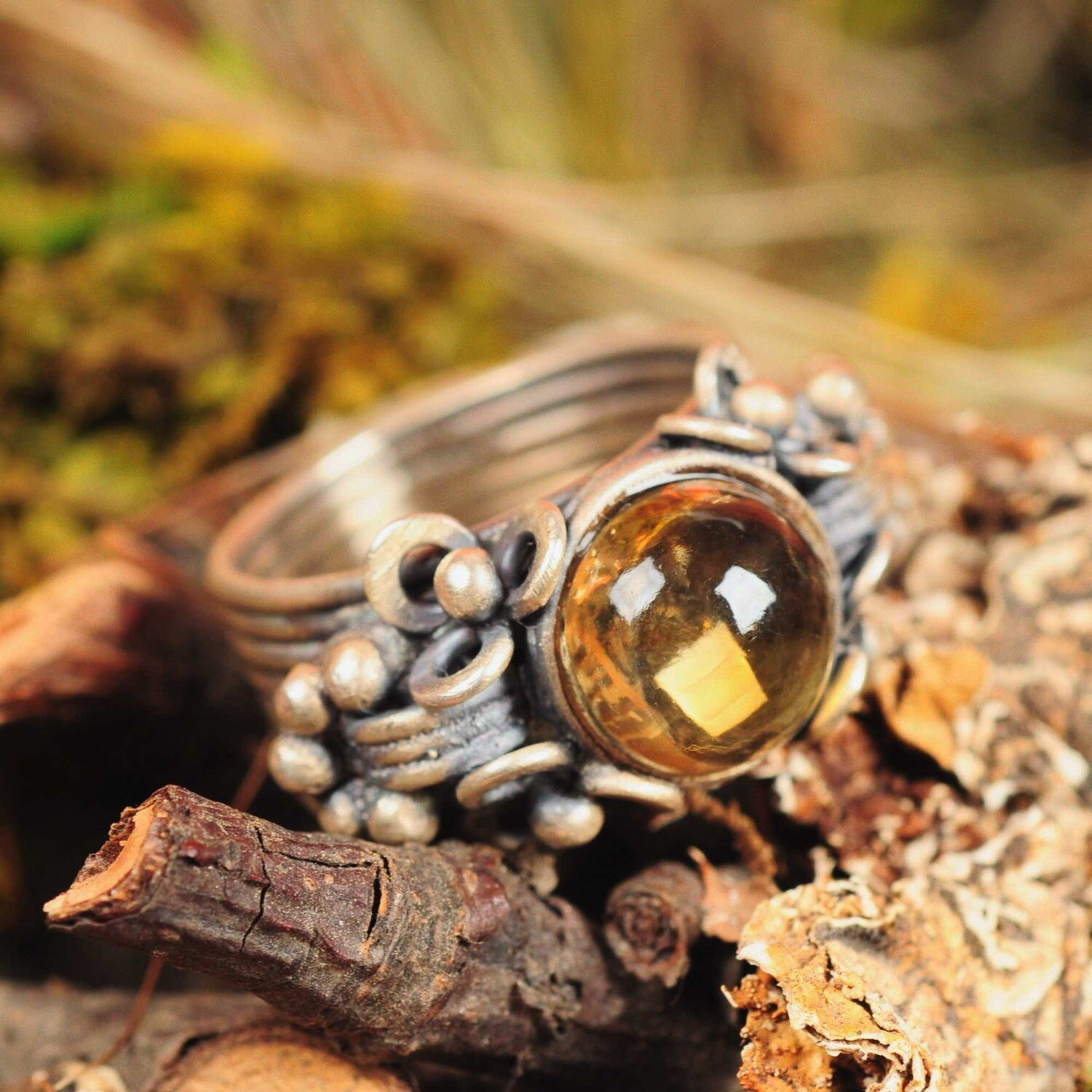 Ring in massief zilver - UNICA -Lize Mommaerts - Maat 58