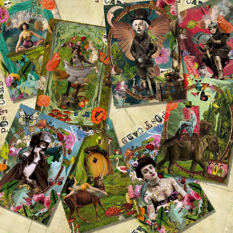 'We are all human' - set van 8 postkaarten - eigen ontwerp