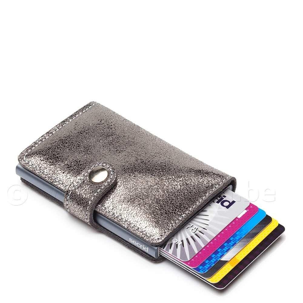 Secrid - kredietkaart portefeuille - zilver glitter