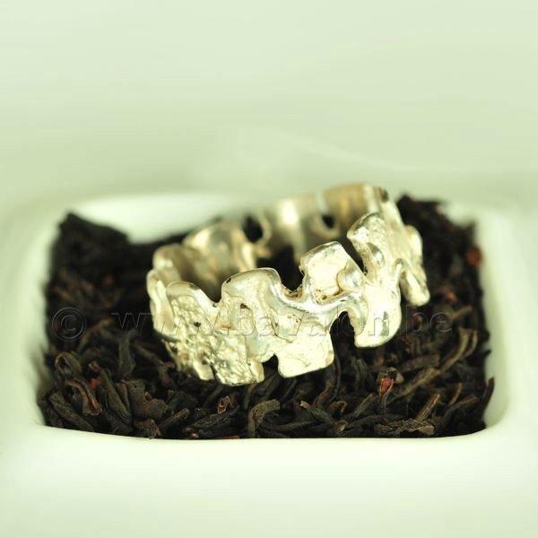 Ring in massief zilver - UNICA - Alex Fabry (België) - Maat60