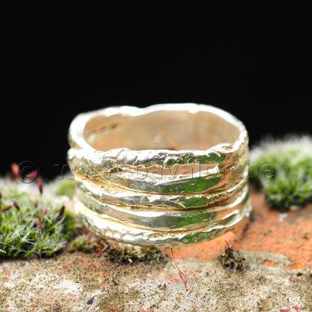 Ring in massief zilver 'ajouré' - Ralf De Burchgrave (België)