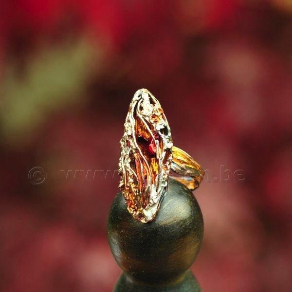 Ring in massief zilver - Kaat Tilley