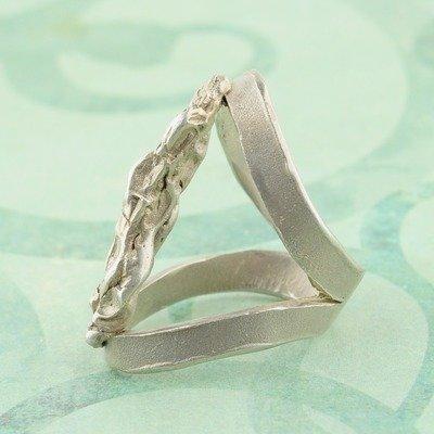 Ring in massief zilver - UNICA - Alex Fabry (België) - Maat59