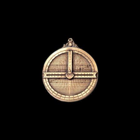 'Universeel Astrolabium' - replica - pin/speld - bronskleurige uitvoering