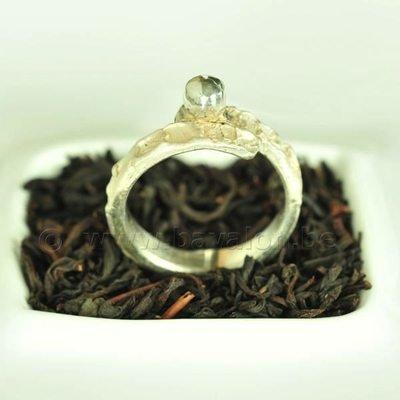 Ring in massief zilver - UNICA - Alex Fabry (België) - Maat54,5