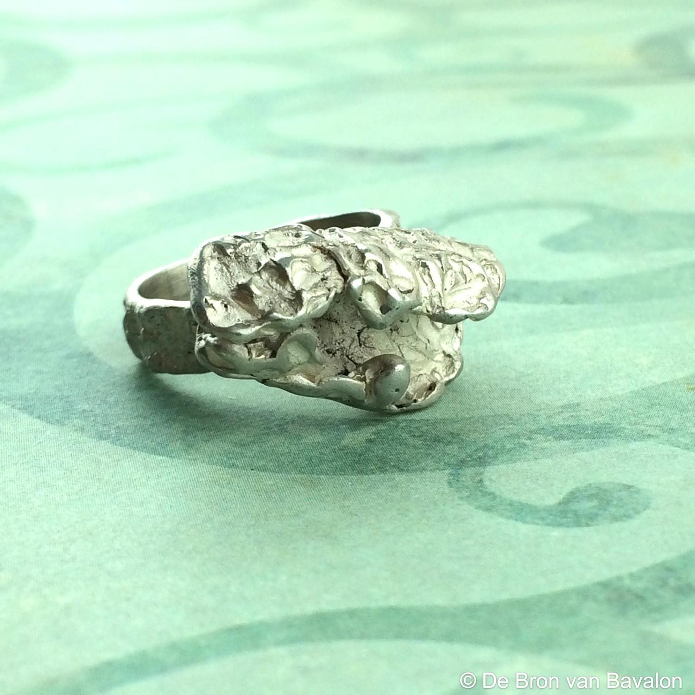 Ring in massief zilver - UNICA - Alex Fabry (België) - Maat56