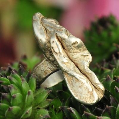 Ring in massief zilver - UNICA - Alex Fabry (België) - Maat56,5