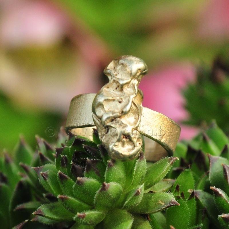 Ring in massief zilver - UNICA - Alex Fabry (België) - Maat55,5
