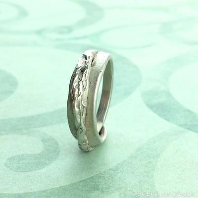 Ring in massief zilver - UNICA - Alex Fabry (België) - Maat58