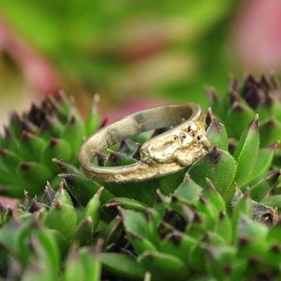 Ring in massief zilver - UNICA - Alex Fabry (België) - Maat53