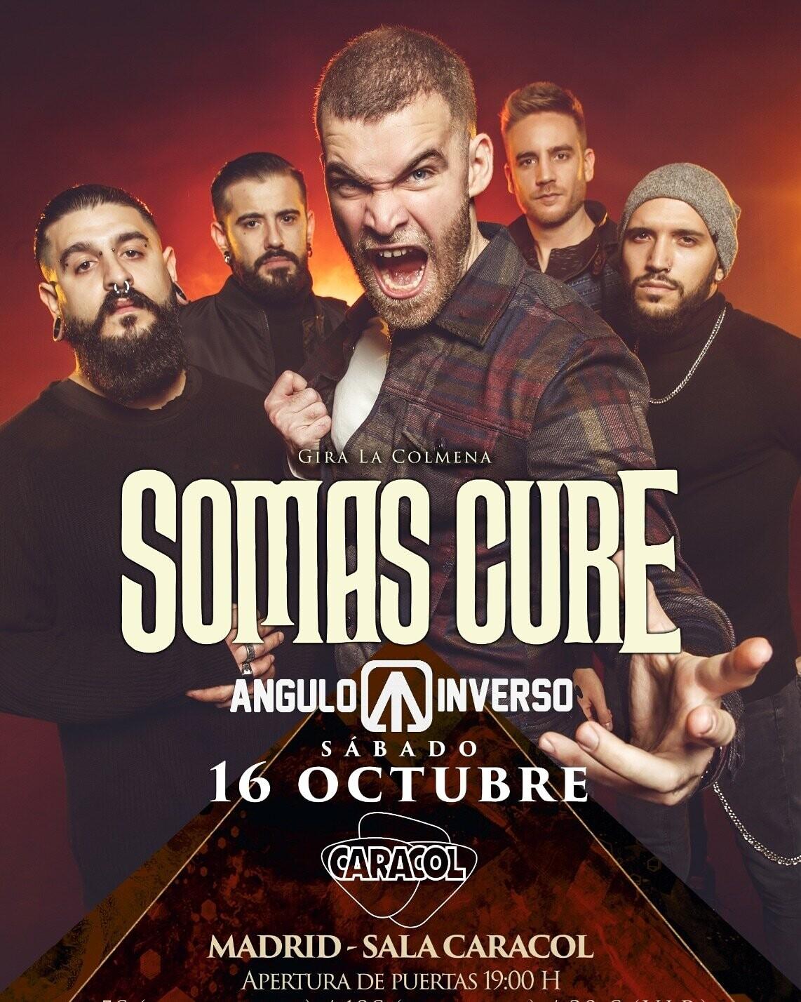 """¡¡COMPRA AQUÍ Y RECOGE EN TAQUILLA!!  ENTRADA CONCIERTO Somas cure + Ángulo Inverso. Madrid 16 de Octubre 2021 """" Sala Caracol """""""