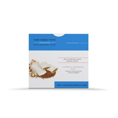 New Direction Advanced Oatmeal Cinnamon Bar 7/Box