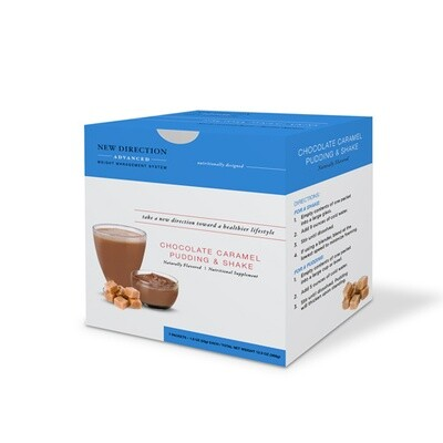 New Direction Advanced Chocolate Caramel Pudding & Shake 7/Box