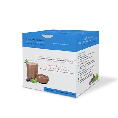 New Direction Advanced Mint Fudge Pudding & Shake 7/box
