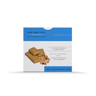 New Direction Advanced Salted Caramel Bar 7/box