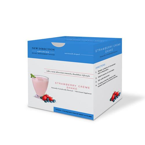 New Direction Advanced Strawberry Creme Shake 7/box