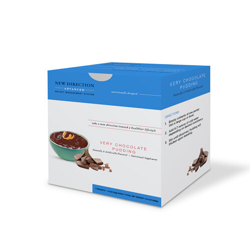 New Direction Advanced Very Chocolate Pudding 7/box