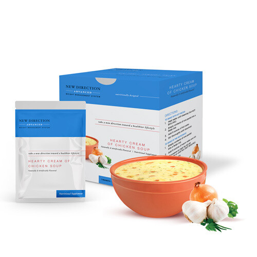 New Direction Advanced Hearty Cream of Chicken Soup 7/Box