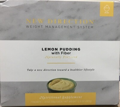 New Direction Lemon Pudding with Fiber Natural 7/Box