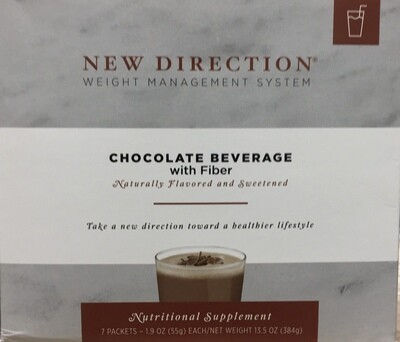New Direction Chocolate Beverage with Fiber Natural 7/Box