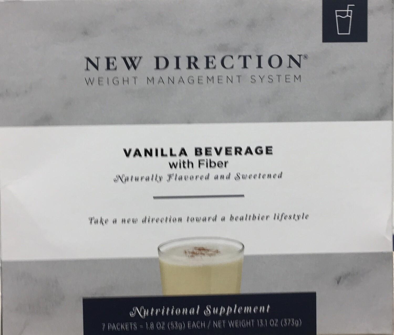 New Direction Vanilla Beverage with Fiber Natural 7/Box