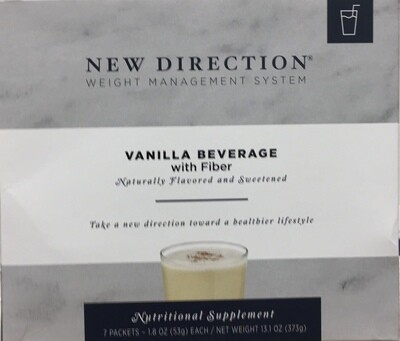 New Direction Vanilla Beverage with Fiber Natural 7/Box
