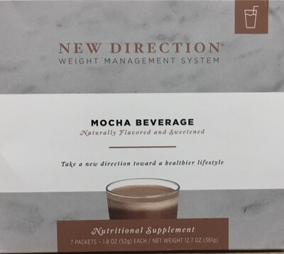 New Direction Mocha Beverage Natural 7/Box