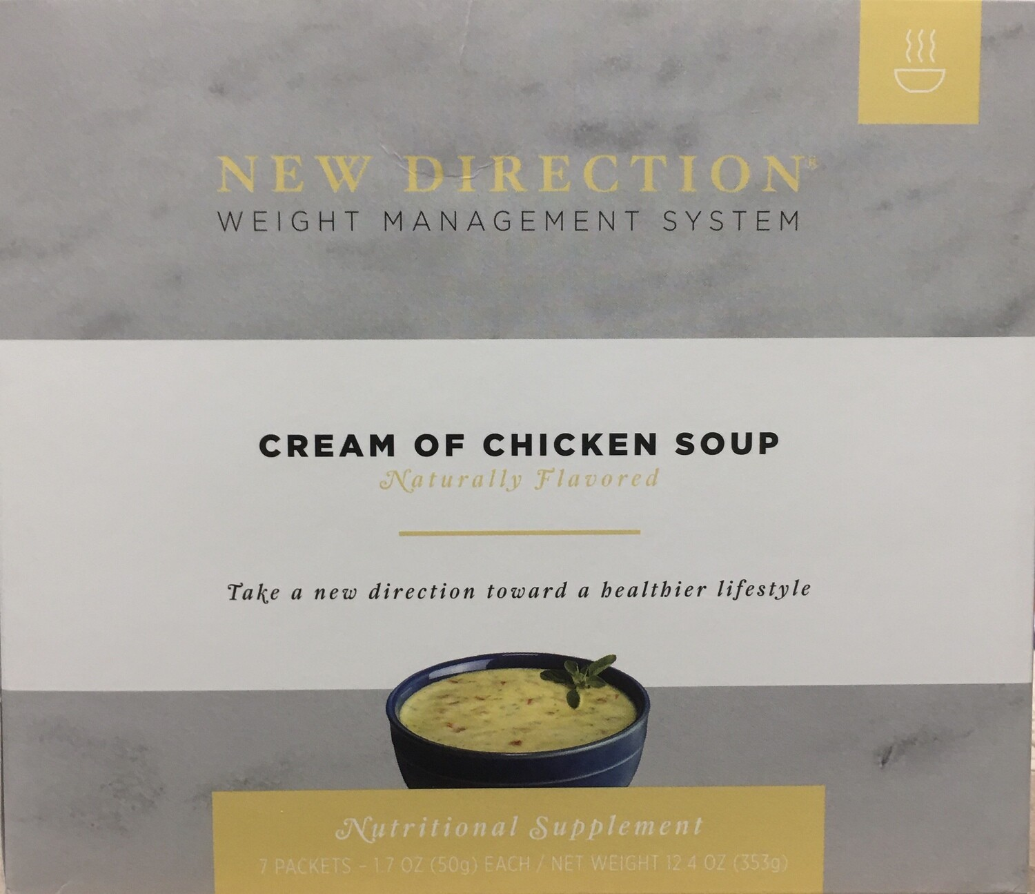 New Direction Cream of Chicken Soup 7/Box