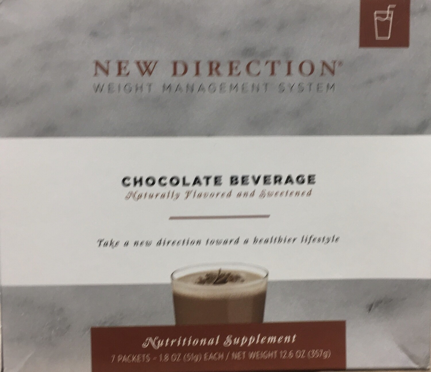 New Direction Chocolate Beverage Natural 7/Box