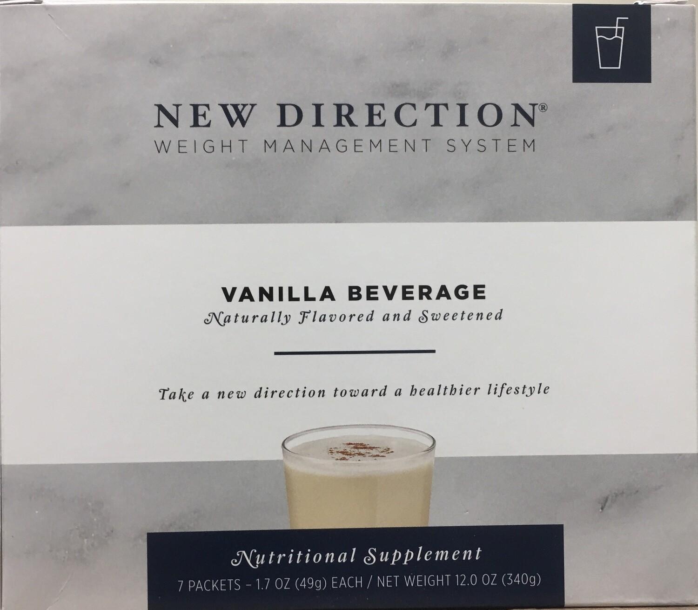 New Direction Vanilla Beverage Natural 7/Box