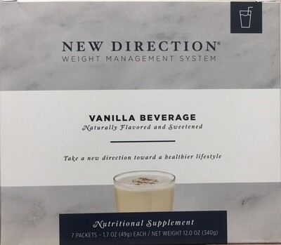 New Direction Vanilla Beverage Natural 7/Box