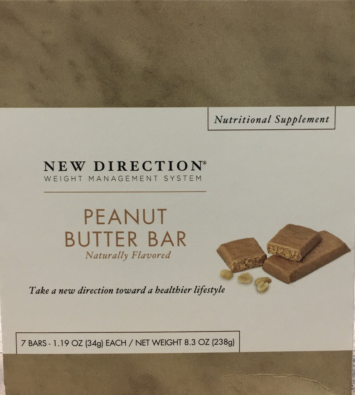 New Direction Peanut Butter Bar 7/Box