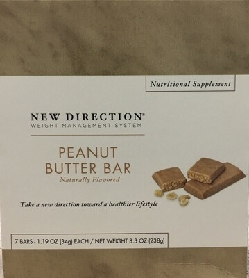 New Direction Peanut Butter Bar 7/Box