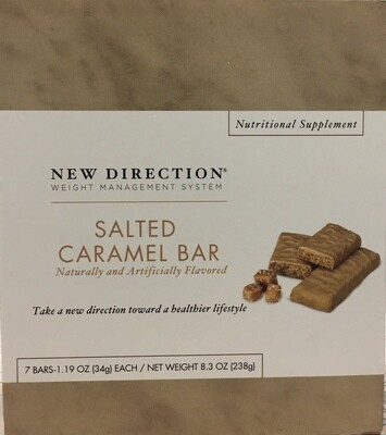 New Direction Salted Caramel Bar 7/Box