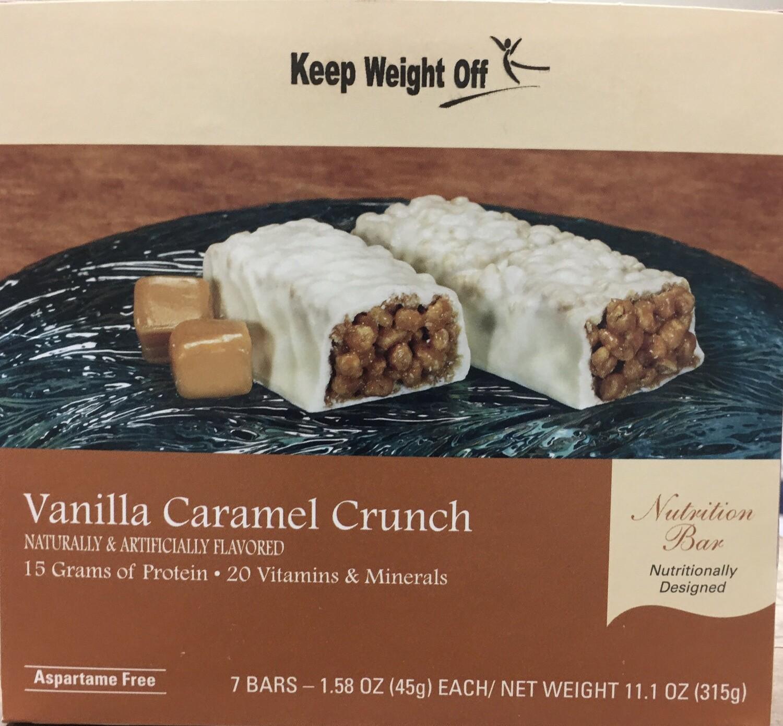 Vanilla Caramel Crunch Bar 7/Box