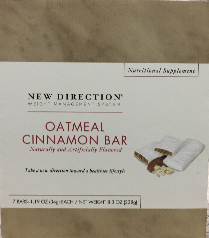 New Direction Oatmeal Cinnamon Bar 7/Box