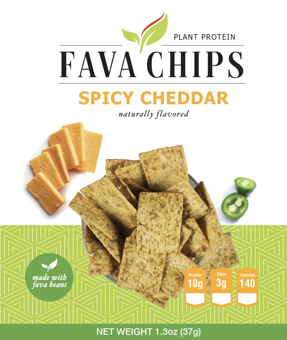 Fava Bean Spicy Cheddar Chip