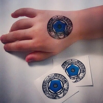 The Blue Bead Temporary Tattoo