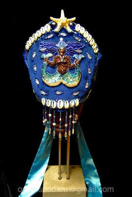 Handmade Crown for Yemaya, Yemoja, Yemanja, La Sirene, Stella Maris