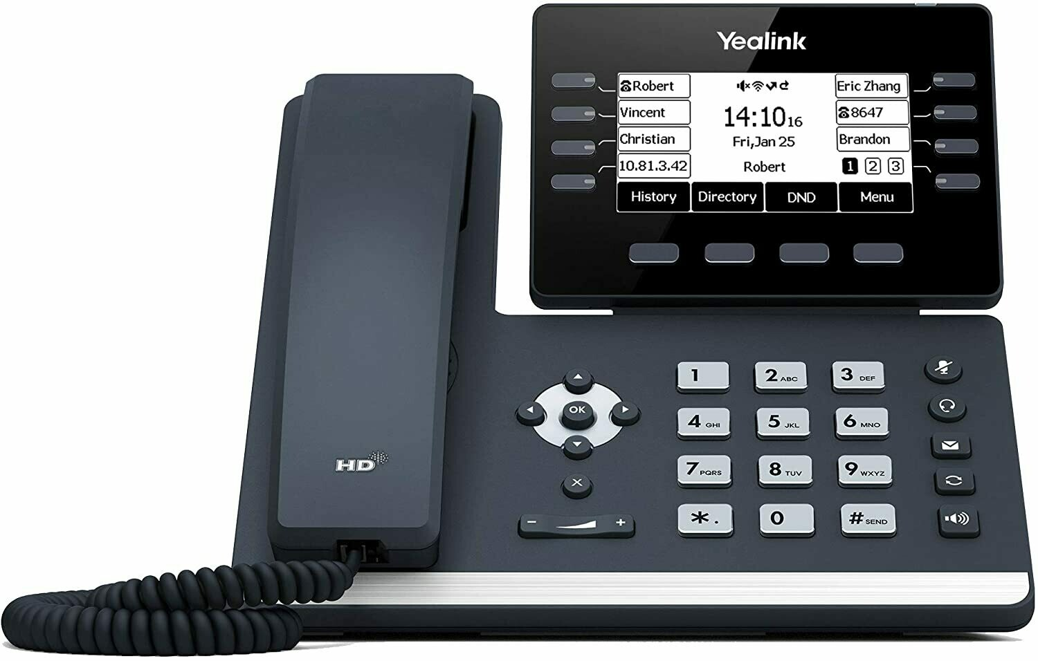 USED Yealink T53W IP Phone w/ built-in Bluetooth and Wi-Fi