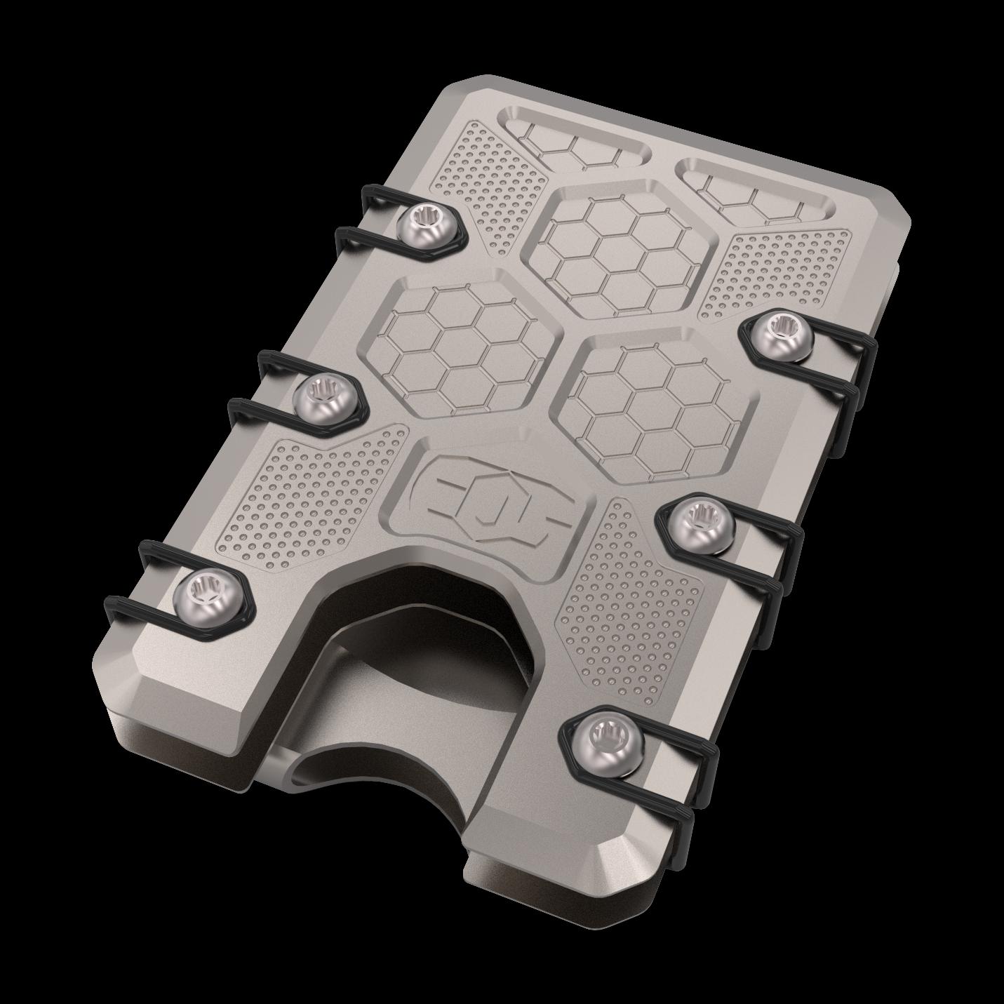 2.5 Titanium Wallet Bead Blast