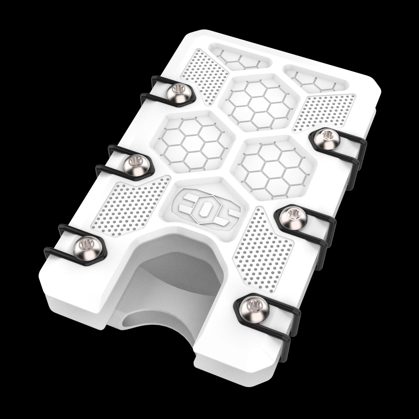 2.5 Titanium Wallet White Cerakote with deep carry clip