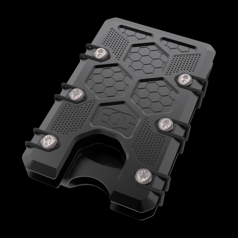 2.5 Titanium Wallet Black Cerakote with deep carry clip finish choices