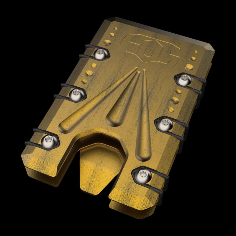 2.0 Titanium Wallet Black/Gold Battleworn Cerakote
