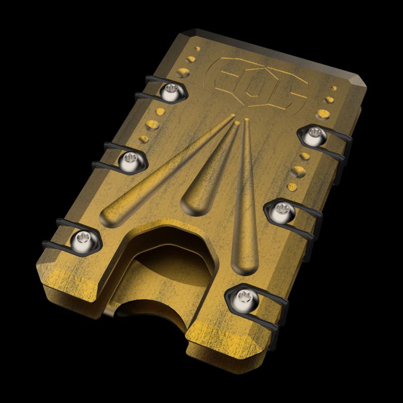 2.0 Titanium Wallet Black/Gold Battleworn Deep Carry Money Clip